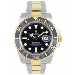 Rolex Submariner Steel and Gold Black Dial and Bezel 116613LN