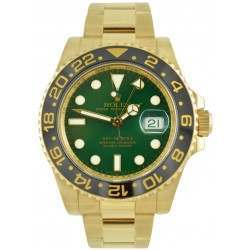 Rolex GMT-Master II 18ct Yellow Gold Green Glass 116718LN