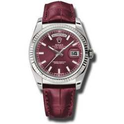 Rolex Day-Date Cherry/index Leather 118139