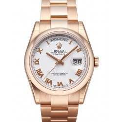 Rolex Day-Date White Roman Oyster 118205