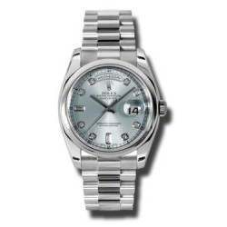 Rolex Day-Date Ice Blue/Diamond President 118206