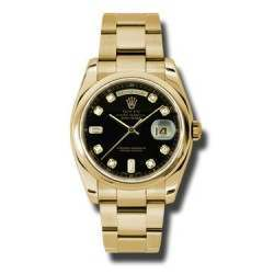 Rolex Day-Date Black/Diamond Oyster 118208