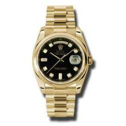 Rolex Day-Date Black/Diamond President 118208