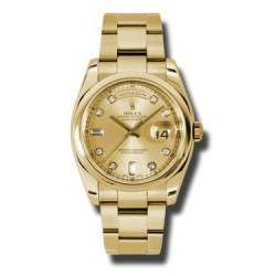 Rolex Day-Date Champagne/Diamond Oyster 118208