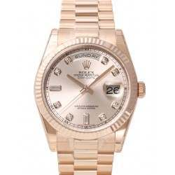 Rolex Day-Date Pink/Diamond President 118235