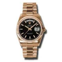 Rolex Day-Date Black/index President 118235