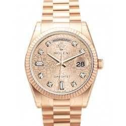 Rolex Day-Date Pink Jub/Diamond President 118235