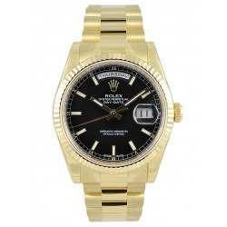 Rolex Day-Date Black/index President 118238