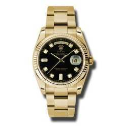 Rolex Day-Date Black/Diamond Oyster 118238