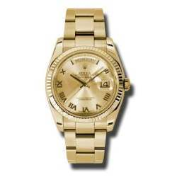 Rolex Day-Date Champagne Roman Oyster 118238