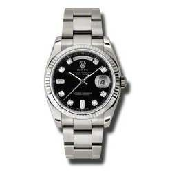 Rolex Day-Date Black/Diamond Oyster 118239