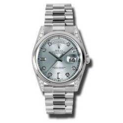 Rolex Day-Date Ice Blue/Diamond President 118296