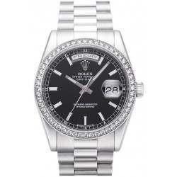 Rolex Day-Date Black/index President 118346