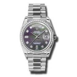 Rolex Day-Date Black mop/Diamond President 118346