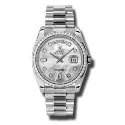 Rolex Day-Date White mop/Diamond President 118346