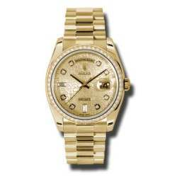 Rolex Day-Date Yellow Gold Champagne Jub/Diamond President 118348