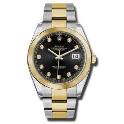 Rolex Datejust 41 Black/ Diamond Oyster 126303