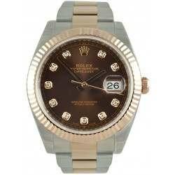 Rolex Datejust 41 Chocolate/Diamond Oyster 126331