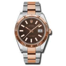Rolex Datejust 41 Chocolate/index Oyster 126331