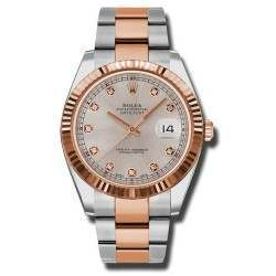 Rolex Datejust 41 Steel and Gold Sundust/Diamond Oyster 126331