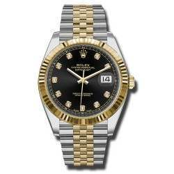 Rolex Datejust 41 Steel and Yellow Gold Black/Diamond Jubilee 126333
