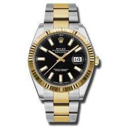 Rolex Datejust 41 Steel and Yellow Gold Black/Index Oyster 126333