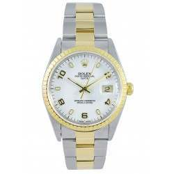 Rolex DateJust White Dial Steel & Gold 15233