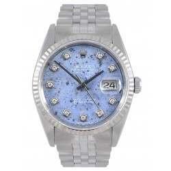 Rolex Datejust Sodalite/Diamond Dial Jubilee 16234
