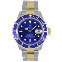 Rolex Submariner Steel and Gold Blue Dial 16613LB