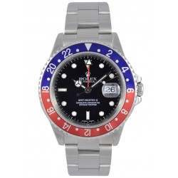 Rolex GMT-Master II Black and Pepsi Bezel 16710