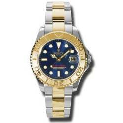 Rolex Yacht-Master 35mm Steel & Gold Blue/index Oyster 168623