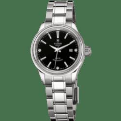 Tudor Style Black Dial 28mm 12100