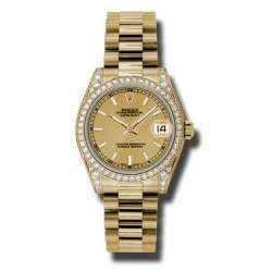 Rolex Datejust 31mm Yellow Gold Champagne/index President 178158