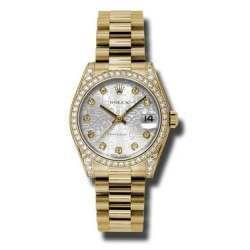 Rolex Datejust 31mm Yellow Gold Silver Jub/Diamond President 178158