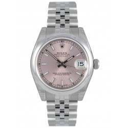 Rolex Lady Datejust 31mm Pink/index Jubilee 178240