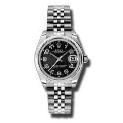 Rolex Lady Datejust 31mm Black Arab Concentric Jubilee 178240