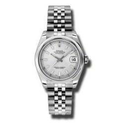 Rolex Lady Datejust 31mm Silver/index Jubilee 178240