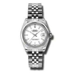 Rolex Lady Datejust 31mm White/index Jubilee 178240