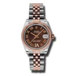 Rolex Lady Datejust 31mm Chocolate Roman Jubilee 178241