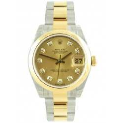 Rolex Lady Datejust 31mm Champagne/diamond Oyster 178243