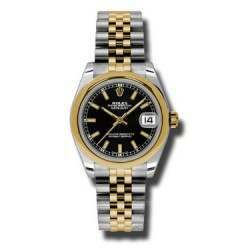 Rolex Lady Datejust 31mm Black/index Jubilee 178243