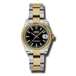 Rolex Lady Datejust 31mm Black/index Oyster 178243
