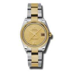 Rolex Lady Datejust 31mm Champagne/Arab 6 Oyster 178243