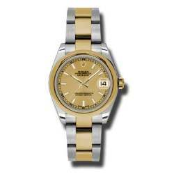 Rolex Lady Datejust 31mm Champagne/index Oyster 178243