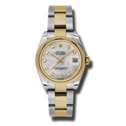 Rolex Lady Datejust 31mm White mop/diamond Oyster 178243