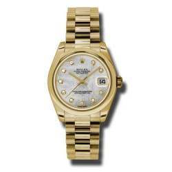 Rolex Datejust 31mm Yellow Gold White mop/Diamond President 178248