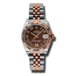 Rolex Lady Datejust 31mm Chocolate Roman Jubilee 178271
