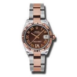 Rolex Lady Datejust 31mm Chocolate Roman Oyster 178271