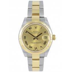 Rolex Lady Datejust 31mm Champagne Roman Oyster 178273