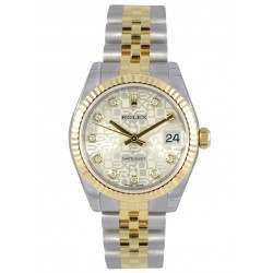 Rolex Lady Datejust 31mm Silver Jub/diamond Jubilee 178273
